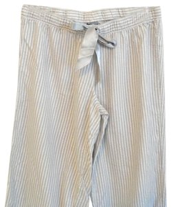 Aerie Striped Lounge Silver Flannel Baggy Pants Gray