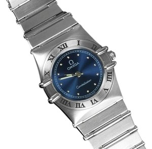 Omega Omega Ladies Constellation Mini 22mm Royal Blue Dial Watch
