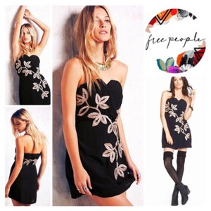Free People short dress Black, Cream on Tradesy