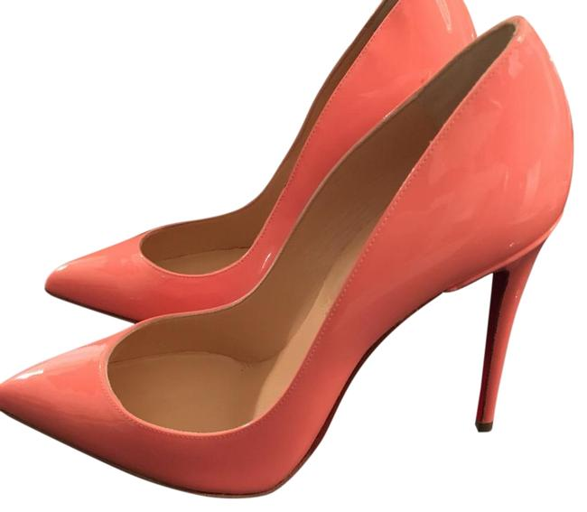 Item - Flamingo Peach Pigalle Follies 100 Patent Leather Coral Pumps Size US 6.5 Narrow (Aa, N)