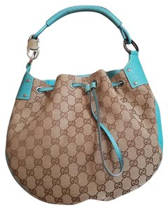 Gucci Ostrich Shoulder Bag