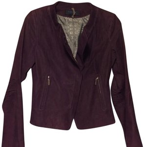 Escada Purple Leather Jacket