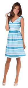 Lilly Pulitzer short dress Turquoise/Wrapping Stripe on Tradesy