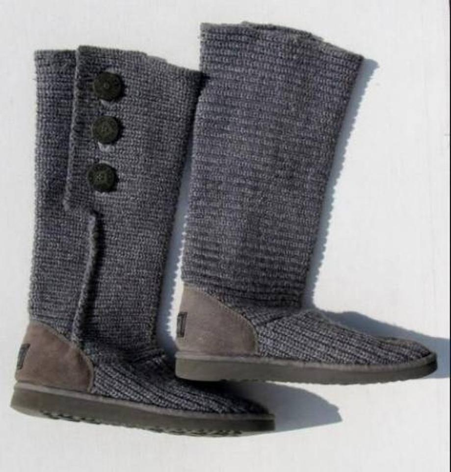 3c08713a67c UGG Australia Grey Official Women's Classic Cardy Value Boots/Booties Size  US 7 Regular (M, B)