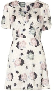 Topshop short dress White Top Shop Floral Tea on Tradesy