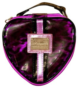 Betsey Johnson Betsy Makeup Purple and Black c Clutch