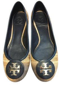 Tory Burch Rattan and Navy Flats