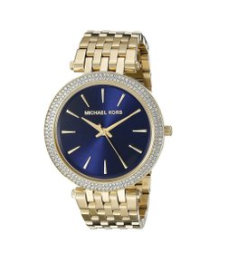 Michael Kors Michael Kors Darci Gold Tone Blue Dial Stainless Steel Watch MK3406