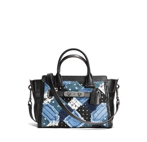 Coach Swagger Carryall 27 Satchel in Navy