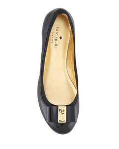 Kate Spade Ballet Leather Flat Casual Black Flats