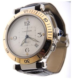 Cartier Cartier Pasha Automatic Date 18K Y Solid Gold/SS 38mm Watch Box & Book