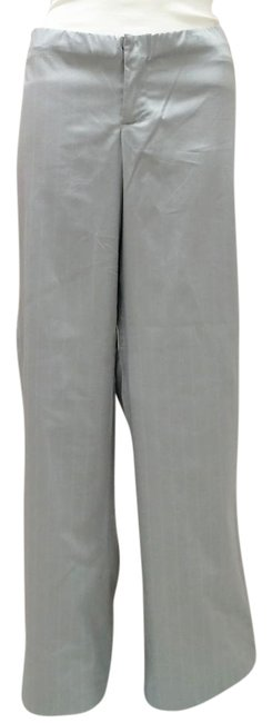 Item - Grey Plain Front Flare Maternity Bottoms Size 4 (S, 27)