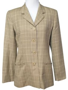 Burberry Houndstooth Plaid Blazer