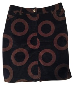 Boden Casual Skirt Blue with brown