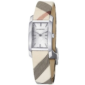 Burberry Burberry Heritage Nova Check Leather Silver Steel Watch BU9503