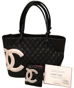 Authentic Chanel Cambon Tote with wallet Shoulder Bag