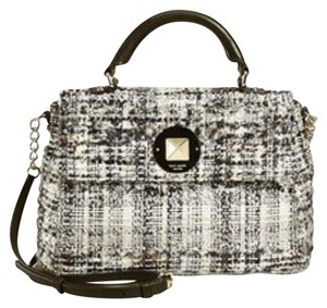Kate Spade Classic B&w Satchel in Black and White Tweed