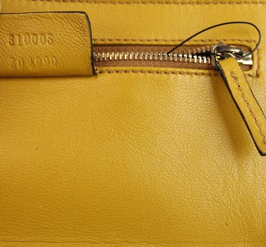 Gucci Broadway Suede Evening Yellow 7066 Clutch Image 9
