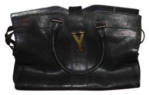 Saint Laurent Leather Designer Satchel in Black