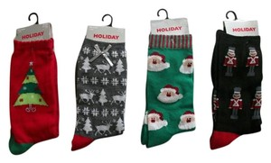 Other Four Christmas Womens Holiday Editions Socks Womens Shoe Size 4-10