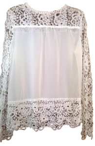 Ace Lace Sleeves Lace Top white