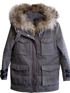 The Kooples Parka Fur Trimmed Fox Fur Coat