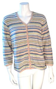 Talbots Cardigan Striped Size Large Sweater