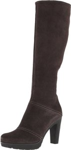 La Canadienne Suede Wedge Snow Boot Brown Boots