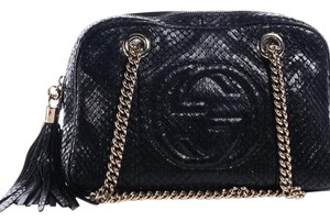 Gucci Soho 308983 Python Shoulder Bag