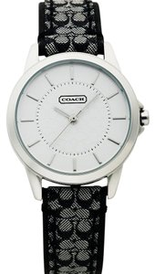 Coach Coach Signature Monogram Black Fabric & Leather Watch 14501524