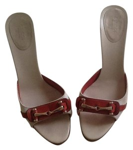 Gucci Beige And Burnt Orange Sandals