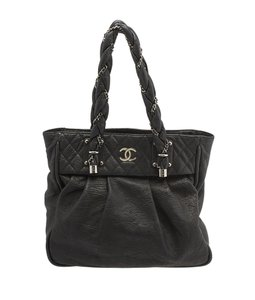 Chanel Lady Braid Bowler Tote in Black