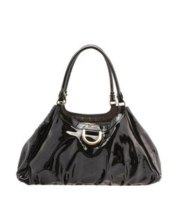 Gucci Patent Leather Satchel in Black