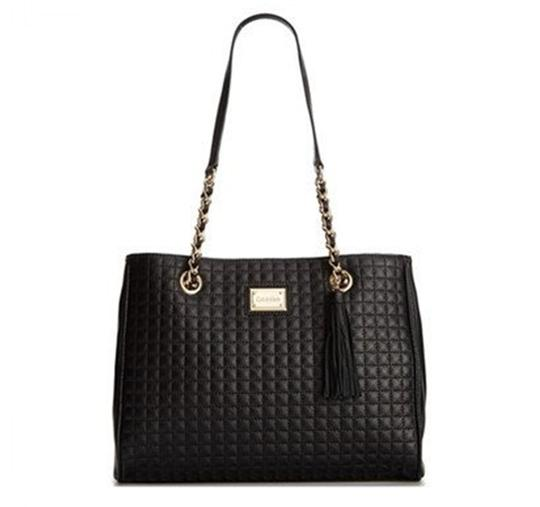 Calvin Klein Hastings Quilted Pebble Leather Tote Shoulder