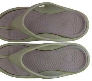 Crocs sandals size 8 womens 6 mens Off whilte Athletic