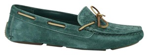 Bottega Veneta Women's Suede Loafer Moccasin Green Flats