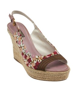 Louis Vuitton Fabric Multi-Color Wedges
