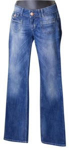 Only Mine Size 26 Low Ebba Boot Cut Jeans-Medium Wash