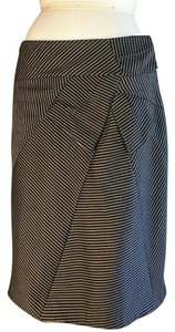 Debbie Shuchat Striped Skirt BLACK
