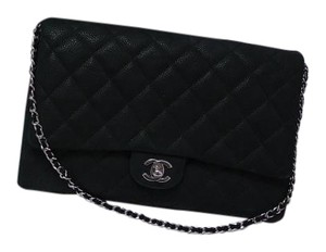 Chanel Chain Caviar Black Clutch