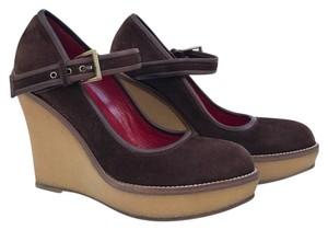 Cesare Paciotti Brown Wedges