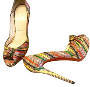 Christian Louboutin Greissimo Pump 140 Multi-Color Platforms