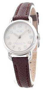 Coach Coach Delancey Mini Burgundy Luminescent Leather Watch 14502284