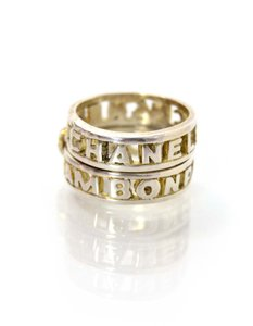 Chanel Chanel Sterling Cut-Out Double Ring Sz 6.25