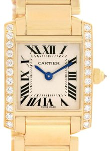 Cartier Cartier Tank Francaise Small 18K Yellow Gold Diamond Watch WE1001R8