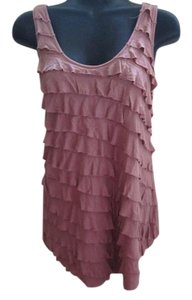 Urban Outfitters Ruffled Pink Summer Casual Top Mauve