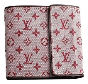 Louis Vuitton LOUIS VUITTON Cherry Red Monogram Mini Lin Purse Wallet