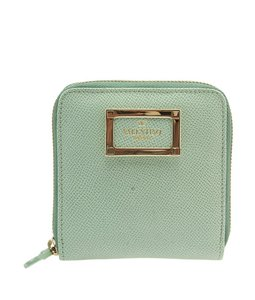 Valentino Valentino CWP00891-APCL01 Green Leather Zippered Wallet (101779)