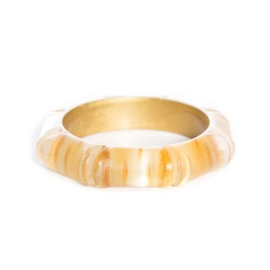 Alexis Bittar Wide Lucite Bamboo Style Bangle
