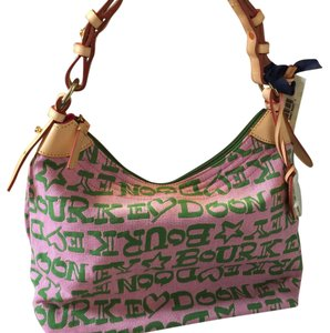 Dooney & Bourke Burke Pink/green Hobo Bag